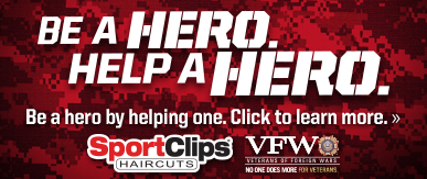 Sport Clips Haircuts of Bentonville​ Help a Hero Campaign
